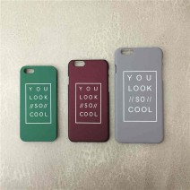 Fashion Funda Letter Case Matte Hard Cover Capa Para Carcasas Coque Funda Hoesje For iPhone 6 6s 6 plus 5 5s SE Plastic Case