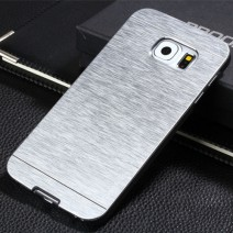 For Samsung Galaxy S6 edge case Luxury Metal Drawing +PC Material Hard case Mobile Phone case Metal Back Cover
