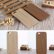 Luxury Wooden Pattern PU Leather Soft Wood Grain Soft Back Shell Phone Bag Cover For iPhone 5 Case For iPhone 5s case