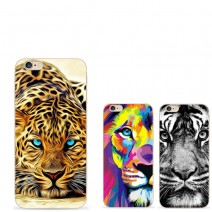 Phone Cases Black white lion For Apple Iphone 6s Case For Samsung Galaxy S5 S6 S7 Edge J5 cheetah TPU Case Oil painting effect