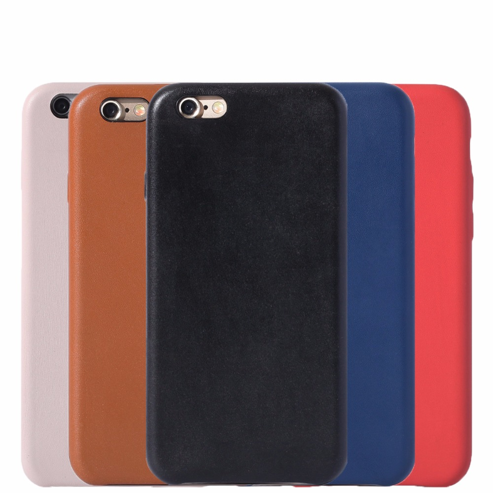 with Logo Case For Iphone 6 6s leather Cover for Iphone6 6s Plus 5.5''
