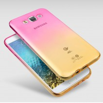 For Samsung Galaxy S6 Case Transparent Gradient Color TPU Silicon Shell
