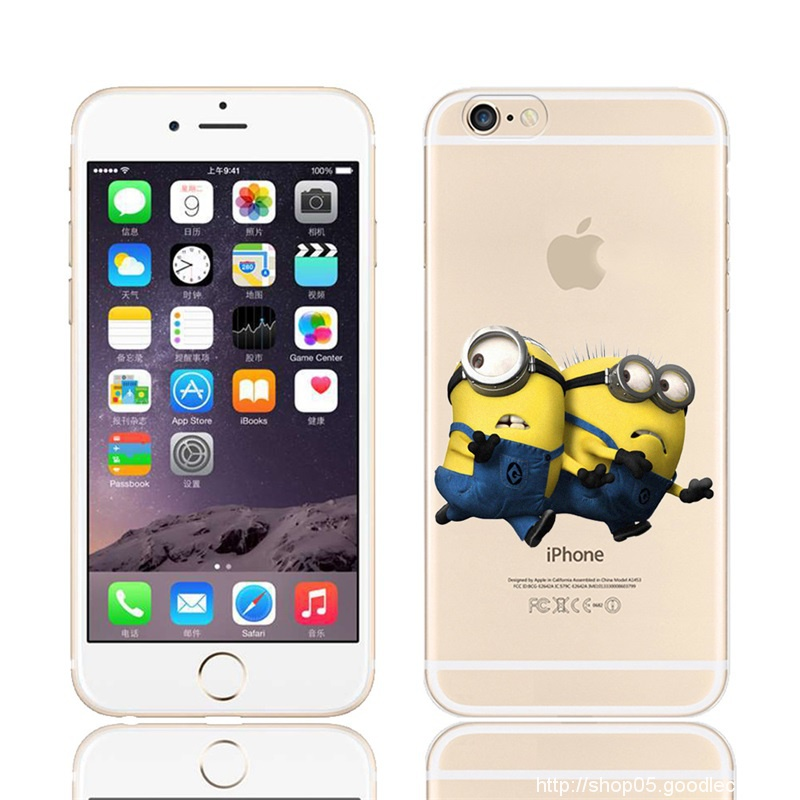 Despicable Me Minion for iPhone 6 Plus Case Flexible Silicone Slim Shock Absorbing Crystal Clear Soft Cover for iPhone 6S Plus