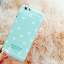 For iphone 6 6S 4.7 inch Plus 5.5 inch case Cute Candy Colors Polka Dot phone Case Fashion Soft TPU For iphone 6S case