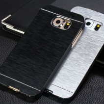 For Samsung Galaxy S6 case Luxury Metal Drawing +PC Material Hard case Mobile Phone case Metal Back Cover