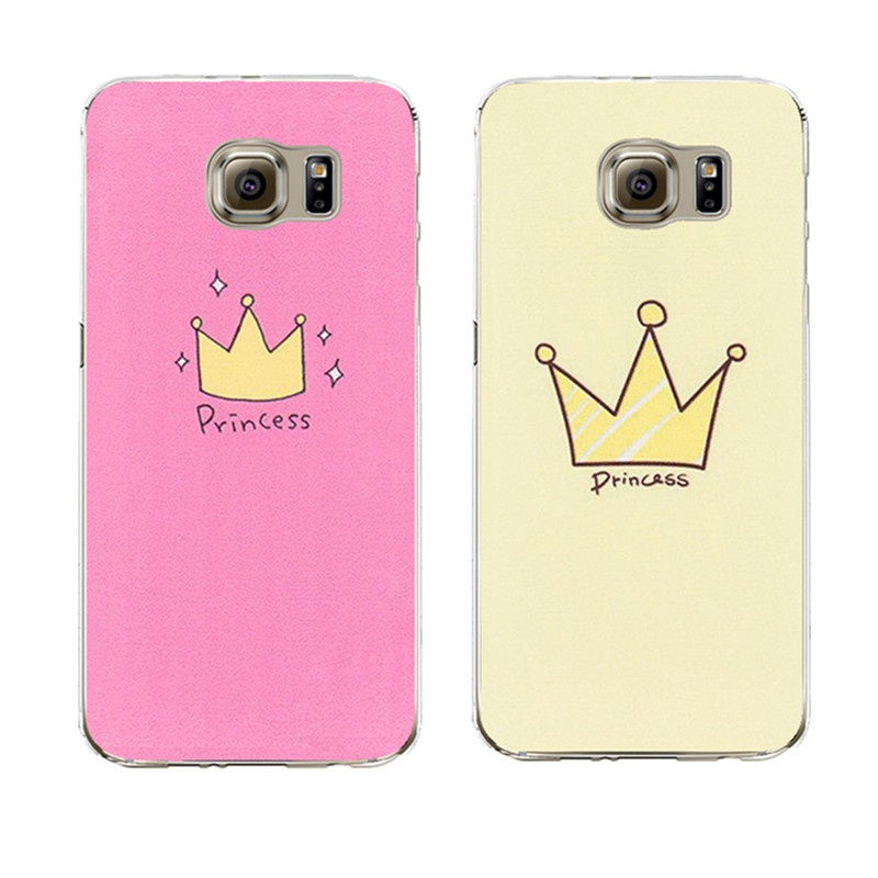 Cute Design crown Transparent Silicone Case Cover For iPhone 5 5S SE 6 6S For Samsung Galaxy S3 S4 S5 S6 S7 Edge J5 A3 A5 2016