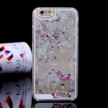 Dynamic Liquid Glitter Sand Quicksand Star For iphone 5c case Crystal Clear phone Back Cover coque For iphone 5c case