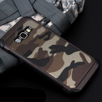 2 in 1 Army Camo Camouflage Pattern back cover Hard Plastic and Soft TPU Armor protective phone case for Samsung Galaxy
