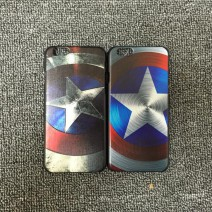 For iPhone 6 6s 6 Plus 6s Plus case Hero Captain America Shield Pattern Protective Phone Case