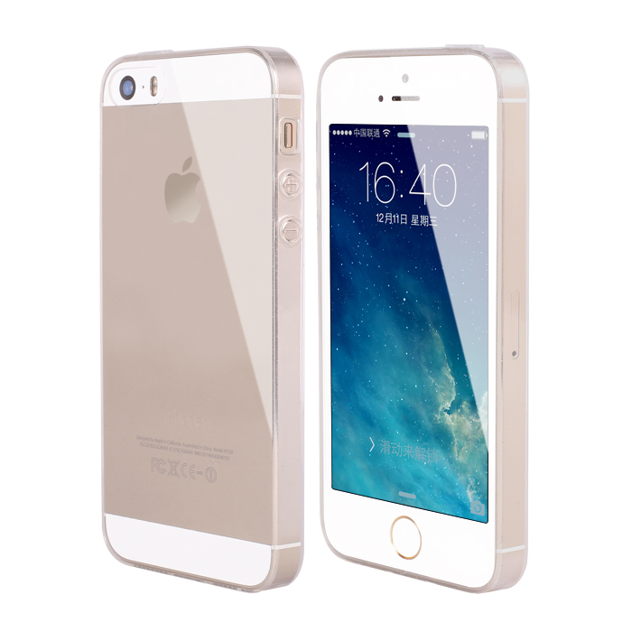Ultra Thin Soft TPU Gel Original Transparent Case For iPhone 5 5S Crystal Clear Silicon Back Cover Phone Bags For IPhone 5s case