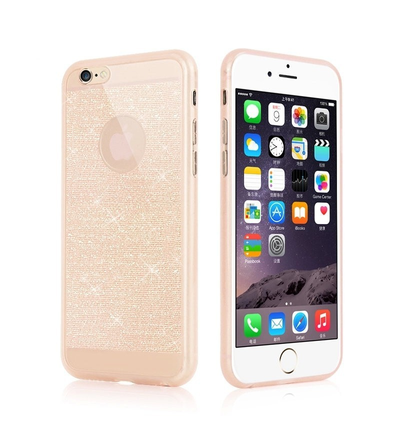 Glitter Clear Case for iPhone 5 5s 6 6s Coque Ultra Thin Back Cover Lovely Bling Soft TPU Phone Cases capa for I6/6plus 5.5inch