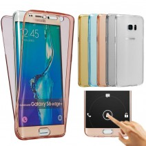 For Samsung Galaxy S7 S7 Edge S6 Edge A3 2016 A5 S4 S5 Note 5 J5 Front Transparent TPU Soft Touch Case full body Clear Cover