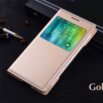 Slim Bag Smart View Shell Original Flip Cover Leather Case For Samsung Galaxy Core Grand Prime S3 S4 S5 S6 S7 Edge J5 case
