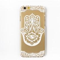 For iPhone 6 Plus 6S Plus Case Slim Transparent White Floral Paisley Flower Mandala Soft TPU Gel Case for iphone 6 Plus case