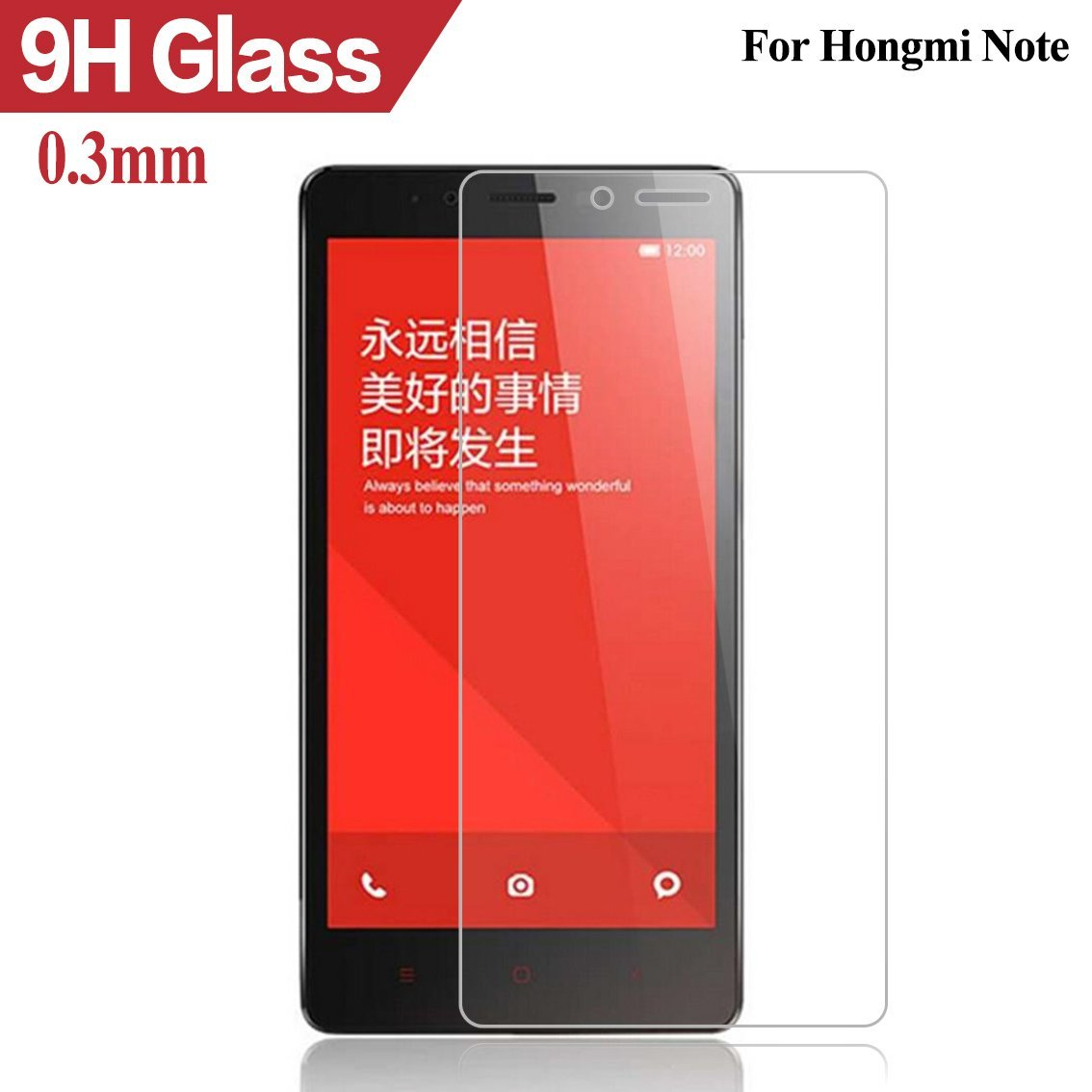Premium Tempered Glass Film Protector 0.3mm Case For Xiaomi Mi2 M2 Mi3 M3 Mi4 Mi5 4C Redmi Hongmi 1S 2 3/ Note / note2 / note3