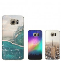 Ultra Thin Soft Silicon Fashion Transparent Back Coque For Samsung Galaxy S4 S5 S6 S7 Edge J5 Core Grand Prime Case For iPhone