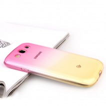 For Samsung Galaxy S3 Case Transparent Gradient Color TPU Silicon Shell