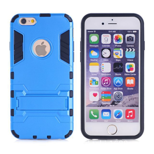 Dual Layer Hybrid Armor Back Stand  For iPhone 6 6s case For iphone 6s plus case Shockproof  TPU Plastic Protective Phone Cover