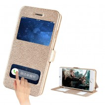 Case For Apple Iphone 4 case For iPhone 4s cases Coque Cover Luxury Smart Front Window View Leather Flip