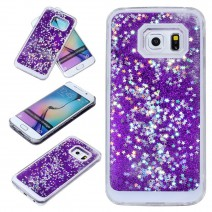 Fun Glitter Star Flowing Liquid Case For Samsung Galaxy A3 A5 2016 S6 S7 Edge J5 case Transparent Clear Covers Hard Plastic Cell