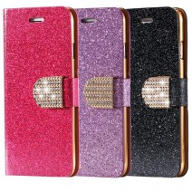 Fashion Women Girl Sexy Luxury Bling Glitter Diamond Cover Phone Case With Crystal Buckle For iPhone For Samsung