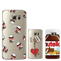 Cute Tumblr Nutella Design Transparent Silicone Case Cover For iPhone 5 5S SE 6 6S For Samsung Galaxy S5 S6 S7 Edge J5