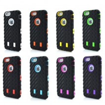 Coque For iPhone 4 Case Tire Dual Layer Defender Case For iphone 4s Hard Plastic 3 in 1 Heavy Duty Armor Hybrid Phone Cover