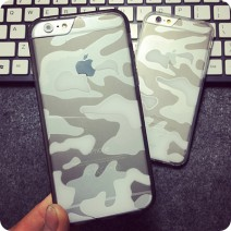Fashion Soft TPU+Acrylic Transparent Clear Camouflage Funda For iPhone 5 5S SE 6 6s case For iphone 6s plus case Premium Case