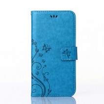 Wallet Flip PU Leather Case Cover Coque For iPhone 4 4S 5 5S SE 6 6S Plus with Stand Card Slot Butterfly Pattern