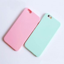 Thin Slim Cute Soft Colorful Candy Silicone Rubber Material Gel Tpu Soft Back Case Cover For Iphone 5 5s SE 6 6S Plus Shockproof
