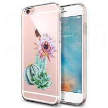 Luxury Fashion Flower Printed Coque for Apple iPhone 6 Case Clear Gel Soft TPU Silicone Cover for iPhone 6S Phone Cases 4.7 inch