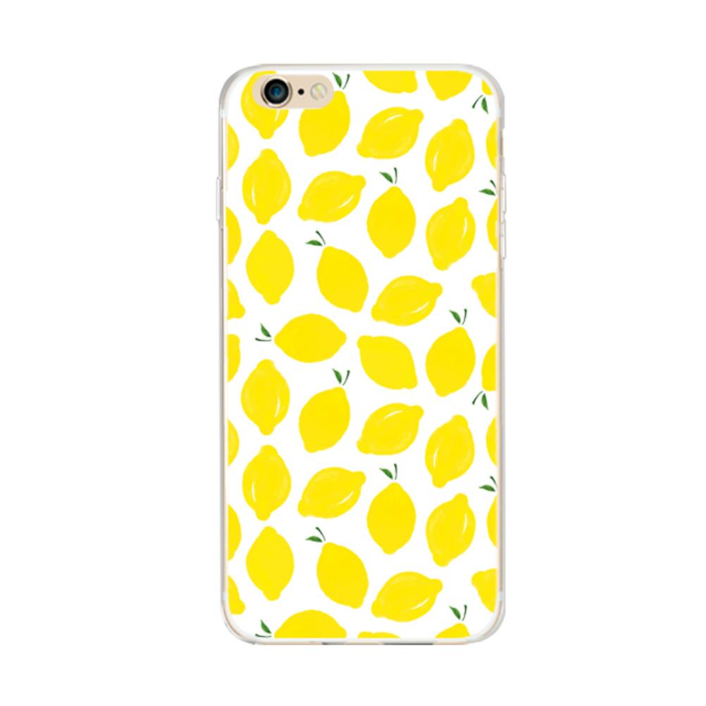 Fruit Lemon Soft Silicon Transparent Thin Case Cover Coque For iPhone 4 4s 5 5S 5C 6 6S 6Plus 6s Plus Super Flexible phone cases