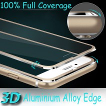 Aluminum alloy Tempered glass phone Coque For iphone 6 6S 6 plus Case phone Accessories Full screen coverage cover 5 5S SE