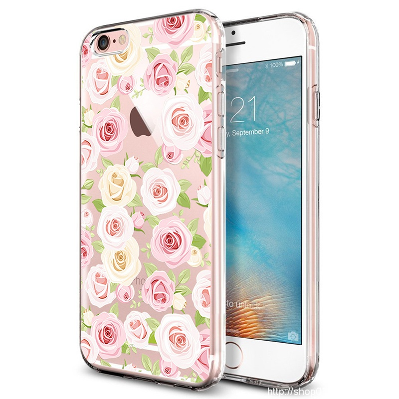 Coque for Apple iPhone 6S Plus Case Printed Pattern Clear TPU Silicone Back Cover Skin Soft Case for iPhone 6 Plus Accessories