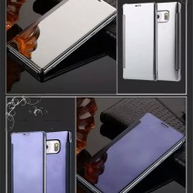 For Samsung Galaxy S5 S6 Edge Plus S7 Edge A5 A510 Note4 5 Clear Surface Flip Mobile Phone Capa Accessories