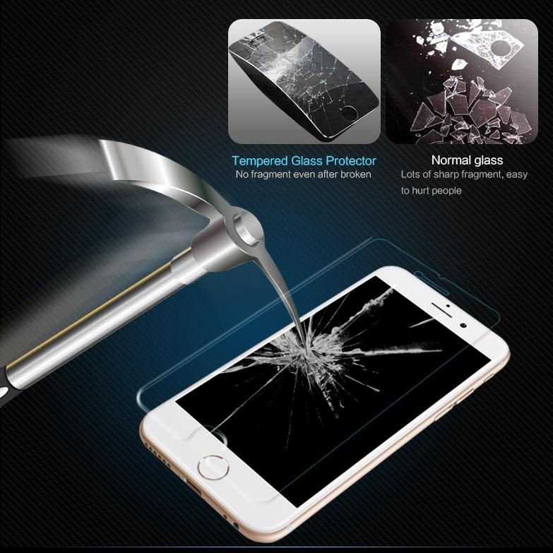 Tempered Glass Screen Protector Film  coque for iphone 4 4s 5 5s 5c SE 6 6s Plus phone cases fundas luxury Cover capa Shockproof