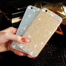 For iPhone 5 case Glitter powder rhinestone luxury diamond clear crystal back cover Sparkle phone case For iPhone 5s