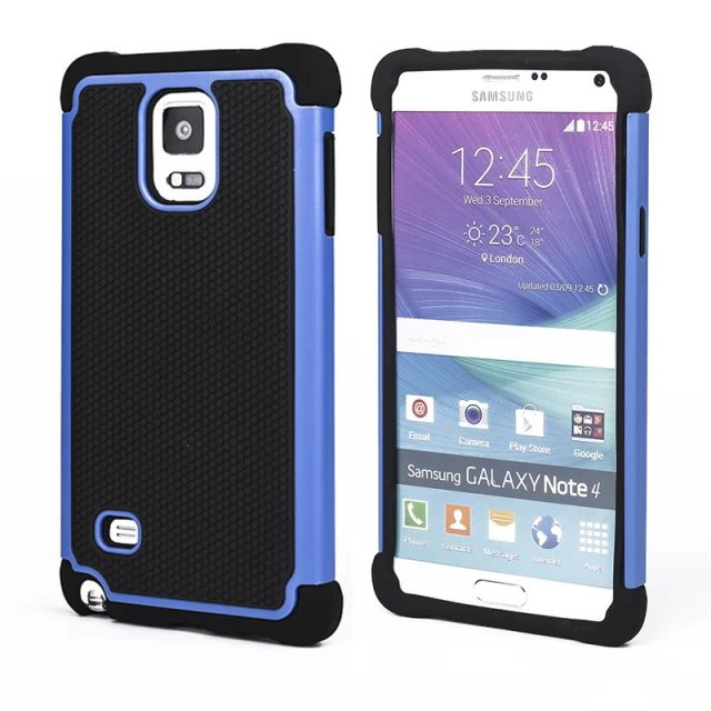 New Shockproof 2 in 1 Cell Phone Protective Cover Hybrid Armor Soft Silicone Hard Back Case For Samsung Galaxy Note 4 case