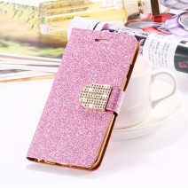 For iPhone 5c case Wallet Cover Fashion Cell phone holder Bling Glitter Diamond PU Leather Phone Case