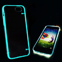 Ultra Thin Clear Transparent Crystal Gel Luminous Style Glowing in Dark Hard back Case Cover for iPhone for Samsung