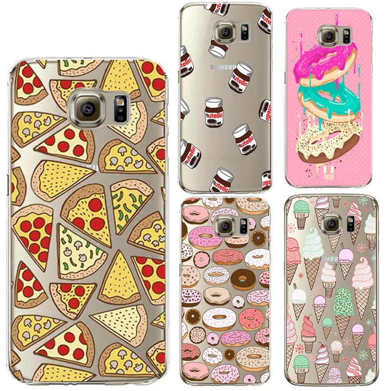 Printed Design Donuts Pizza Soft Silicone TPU Cover For Samsung Galaxy A3 A5 2016 S3 S4 S5 S6 S7 Edge Core Grand Prime J5 case