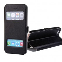 For iPhone 5c case Coque Cover Luxury Smart Front Window View Leather Flip