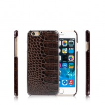 Luxury Crocodile Pattern PU + TPU Soft Rubber Phone Cover Case for Apple iPhone 6 iPhone 6S 4.7 inch Mobile Phone Bag