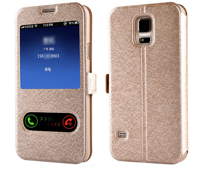 For samsung galaxy S6 edge case Coque Cover Luxury Smart Front Window View Leather Flip