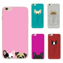 Cute Dog Cat Pattern phone cases for iphone 6 6s plus high quality Soft Painting protective back covers For Samsung Galaxy