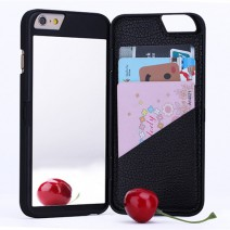For iPhone 6 6S 6 Plus 6S Plus case Fashion Dual Layer Hard Card Slot + Makeup Mirror Back Cover For iPhone 6S case
