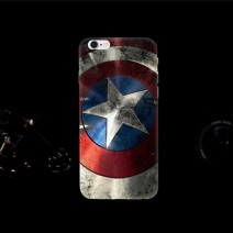 Printed Cool Captain America For Apple iPhone 4 4S 5 5S 6 6S Plus Case Cover Painting Skin PC Case Cover For iPhone 6S case