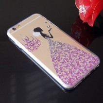 Fancy Rhinestone wedding dress 3D Relief art luxury crystal hard back cover phone for iPhone 5 case For iphone 5s case