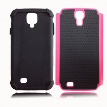 New Shockproof 2 in 1 Cell Phone Protective Cover Hybrid Armor Soft Silicone Hard Back Case For Samsung Galaxy S4 case