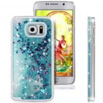 Fun Glitter Star Flowing Liquid Case For Samsung Galaxy S4 S5 S6 Transparent Clear Covers Hard Plastic Cell For grand prime Case